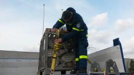 Ladungssicherung am praktischen Beispiel (Foto: D. Lade)