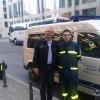 Führungsstelle mit dem Ltr Log Fü M.Laatzig und dem Trf.  L.Steiniger von der FK Berlin-Charlottenbug-Wilmersdorf